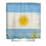 Argentina flag Shower Curtain by Setsiri Silapasuwanchai