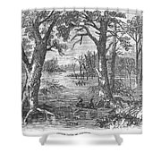 Arkansas: Sunken Lands Shower Curtain by Granger