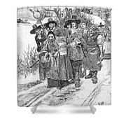 Arresting A Witch, 1692 Shower Curtain by Granger