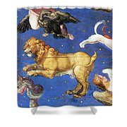 Artwork In Villa Farnese, Italy Shower Curtain by Photo Researchers