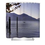 Ascona - Lago Maggiore Shower Curtain by Joana Kruse
