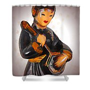 Asian Beauty Minstrel Shower Curtain by Kathy Clark