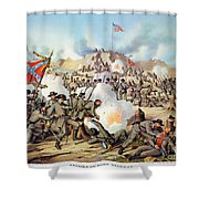 Assault On Fort Sanders Shower Curtain by Granger