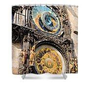 Astronomical Clock In Prague Shower Curtain by Artur Bogacki