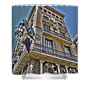 At The Plaza De La Boqueria ... Shower Curtain by Juergen Weiss