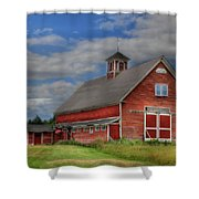 Atco Farms - 1920 Shower Curtain by Lori Deiter