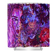 Attraction Shower Curtain by Natalie Holland