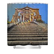 Auburn Courthouse Shower Curtain by Cheryl Young