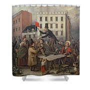 Auction In Chatam Street Shower Curtain by E Didier