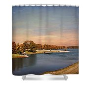 Autumn at Lake Graham 2 Shower Curtain by Jai Johnson