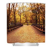 Autumn - Central Park - New York City Shower Curtain by Vivienne Gucwa