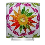 Autumn Chakra Shower Curtain by Sonali Gangane