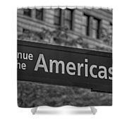 Avenue Of The Americas Shower Curtain by Susan Candelario