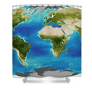 Average Plant Growth Of The Earth Shower Curtain by Stocktrek Images
