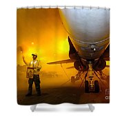 Aviation Boatswains Mate Waves Class Shower Curtain by Stocktrek Images
