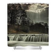 Aysgarth Falls Yorkshire England Shower Curtain by John Short