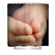Baby Feet Shower Curtain by Carlos Caetano