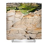 Badlands In Alberta Shower Curtain by Elena Elisseeva