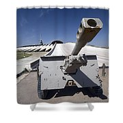 Baghdad, Iraq - An Iraqi Howitzer Sits Shower Curtain by Terry Moore