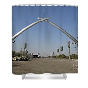 Baghdad, Iraq - Hands Of Victory Shower Curtain by Terry Moore