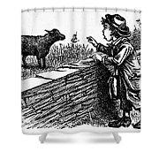 Bah, Bah, Black Sheep Shower Curtain by Granger