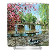 Bakewell Bridge - Derbyshire Shower Curtain by Trevor Neal