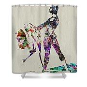 Ballet Dance Shower Curtain by Naxart Studio
