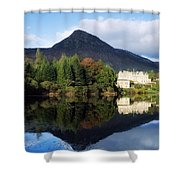 Ballynahinch Castle Hotel, Twelve Bens Shower Curtain by The Irish Image Collection
