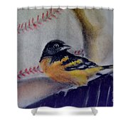 Baltimore Orioles Shower Curtain by AE Hansen