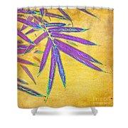 Bamboo Batik II Shower Curtain by Judi Bagwell