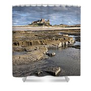 Bamburgh, Northumberland, England Shower Curtain by John Short