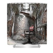 Barber - Chair - Eastern State Penitentiary Shower Curtain by Paul Ward