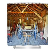 Barn Treasures 2 Shower Curtain by Cheryl Young