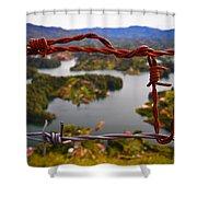 Bartok Shower Curtain by Skip Hunt