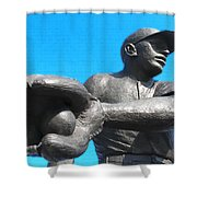 Baseball - Americas Pastime Shower Curtain by Bill Cannon
