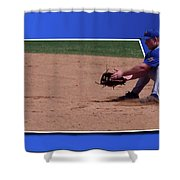 Baseball Hot Grounder Shower Curtain by Thomas Woolworth