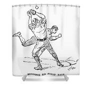 Baseball Players, 1889 Shower Curtain by Granger