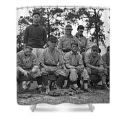 Baseball Team, 1938 Shower Curtain by Granger