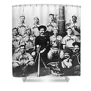 Baseball Team, C1898 Shower Curtain by Granger