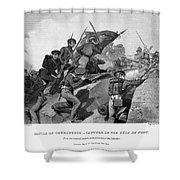 Battle Of Churubusco, 1847 Shower Curtain by Granger