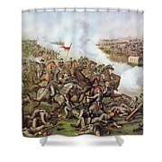 Battle Of Five Forks Virginia 1st April 1865 Shower Curtain by American School