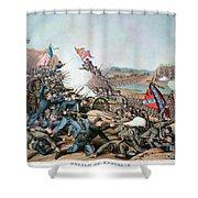 Battle Of Franklin, 1864 Shower Curtain by Granger