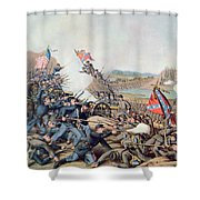 Battle Of Franklin November 30th 1864 Shower Curtain by American School
