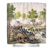 Battle Of Spottsylvania May 1864 Shower Curtain by American School