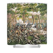 Battle Of The Wilderness May 1864 Shower Curtain by American School