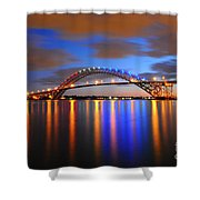 Bayonne Bridge Shower Curtain by Paul Ward