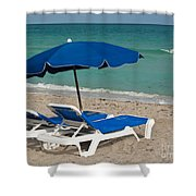 Beachtime Shower Curtain by Barbara McMahon