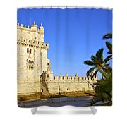 Belem Tower Shower Curtain by Carlos Caetano