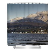 Ben Nevis And Loch Linnhe Panorama Shower Curtain by Gary Eason