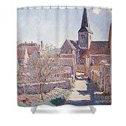 Bennecourt Shower Curtain by Claude Monet